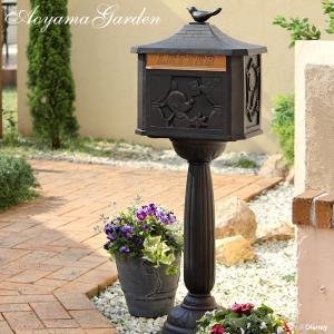 ディズニー ポスト/メイルボックス ミッキー鳥の郵便屋さん//郵便受け/おしゃれ/ガーデンポスト/ブロンズ色/アンティーク/disney_y/TD-MB01|garden