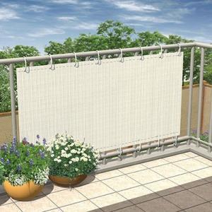 日よけ シェード/プライバシーシェード アイボリー 幅100cm×高さ200cm/GFS-20I/UVカット/庭/ガーデン/遮光|garden