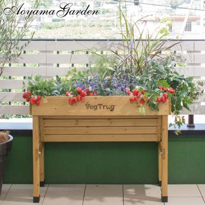 ポイント最大10倍/プランター 家庭菜園/ ホームベジトラグ ウォールハガー S VGT-WH01 /野菜/ハーブ/木製/ベランダ/スタンド|garden