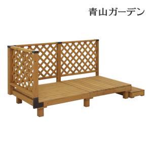 ウッドデッキ セット/システムデッキ 0.5坪 ナチュラル/SDW-N05/タカショー/DIY/木製デッキ|garden