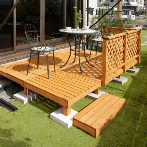 ウッドデッキ セット/システムデッキ1.5坪 ナチュラル/SDW-N15/タカショー/DIY/木製デッキ|garden