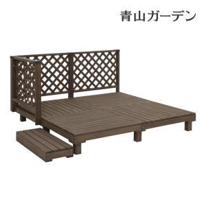 ウッドデッキ セット/システムデッキ 1坪 ACQブラウン/SDW-A10/タカショー/DIY/木製デッキ|garden