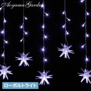 イルミネーション LED/イルミネーション カーテン 42球 ニードル LGI-DC42NE/スノーモチーフ/クリスマス|garden