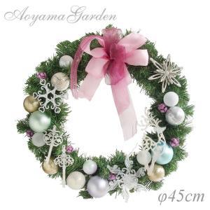 クリスマスリース 造花/グリーンリース(トナカイ)φ45cm|garden