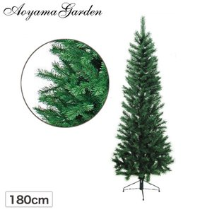 クリスマスツリー 人工植物/ニュースリムツリー 180cm ...