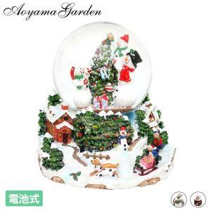 クリスマス 飾り ギフト プレゼント 装飾 室内 アンティーク 置き物 デコレーション / スノード...