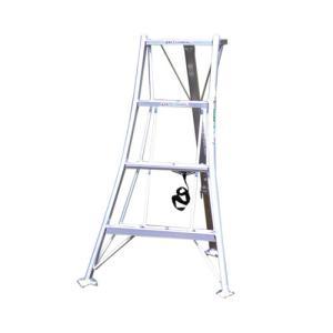 アルミ三脚 4尺 KWX-120 120cm 1.2m 脚立 踏み台 56044|gardenmate