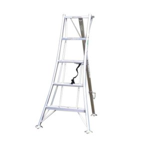 アルミ三脚 5尺 KWX-150 150cm 1.5m 脚立 踏み台 56045|gardenmate