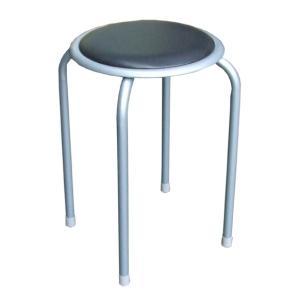 パイプ丸椅子 SC-98056 単品 55369 / 椅子 丸イス gardenmate