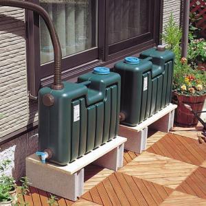 雨水タンク 100Lセット EG-26 55587|gardenmate