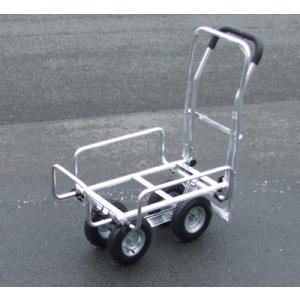 アルミハウスカー ブレーキ付き 55858 / 台車 カート|gardenmate