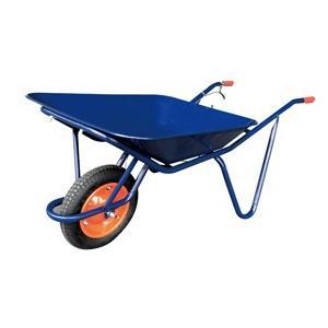 ◆法人様限定お届け◆ 浅型一輪車 2才ブレーキ付 WB2709B ネコ 55895 gardenmate