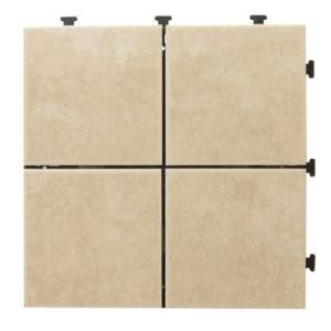 タイルデッキパネル 12枚セット ジョイント式 タイルデッキパネル アンティークホワイト 4P 56729|gardenmate