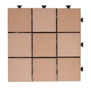 タイルデッキパネル 12枚セットジョイント式 ブラウン 56731|gardenmate