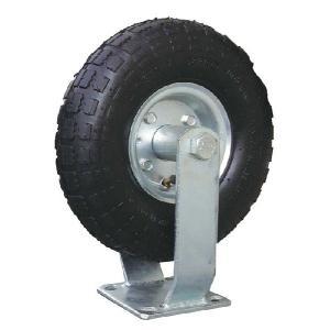 運搬車台車用 空気タイヤ10インチ 固定キャスター エアータイヤ 3.50-4 56000|gardenmate