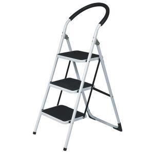 ステップチェア パッソ 3段 (折りたたみ式スチール踏み台・脚立) 57161|gardenmate