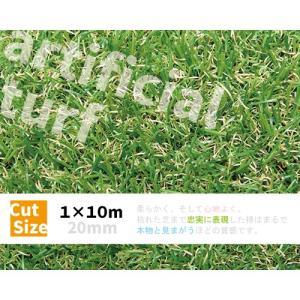 人工芝 ロール 1×10m 〔20mm丈〕 ■今だけ芝ピンおまけつき!■ 57145|gardenmate