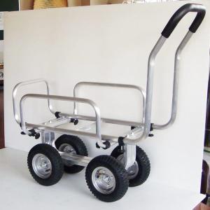 コンテナ2個用アルミハウスカー TC-1408AL 55858 / 台車 カート|gardenmate