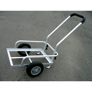 アルミ2輪コンテナカート  ノーパンクタイヤ付き TC2002N / 台車 カート|gardenmate