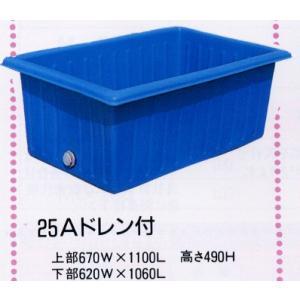 角型ポリ桶 K-300 56936 / 農業 ポリタンク|gardenmate