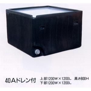 角型ポリ桶 K-1000 56938 / 農業 ポリタンク|gardenmate