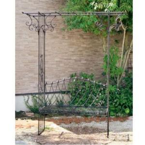 ベンチ付きパーゴラ 180cm (IN-KKBP-200) gardens