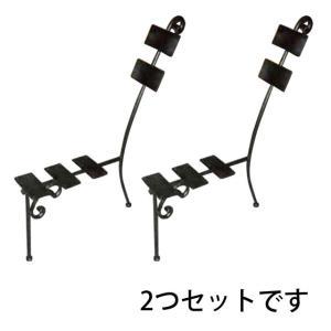 DIYパーツ・アイアン(鉄)製背もたれ付き椅子、ベンチ用フレーム・セット(背板あり)(ND-34178) gardens