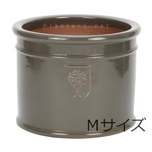イギリスRHS・プレミアム釉薬鉢・ミルズ 29cm (チャコール) (SS-SPK-RH02M-CG)|gardens