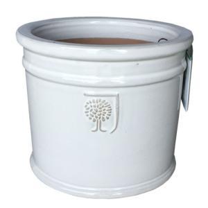 イギリスRHS・プレミアム釉薬鉢・ミルズ 22cm (ホワイト) (SS-SPK-RH02S-WT)|gardens