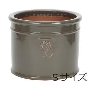 イギリスRHS・プレミアム釉薬鉢・ミルズ 22cm (チャコール) (SS-SPK-RH02S-CG)|gardens