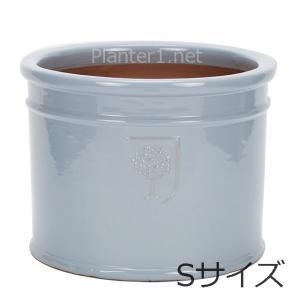 イギリスRHS・プレミアム釉薬鉢・ミルズ 22cm (スカイブルー) (SS-SPK-RH02S-SB)|gardens