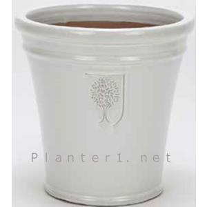 イギリスRHS・プレミアム釉薬鉢・マリナー 26cm (ホワイト) (SS-SPK-RH04S-WT)|gardens