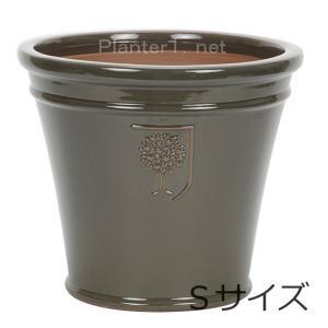 イギリスRHS・プレミアム釉薬鉢・マリナー 26cm (チャコール) (SS-SPK-RH04S-CG)|gardens