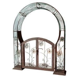 アイアン製・ガーデンアーチ (ゲート付き) (TY-86322) gardens