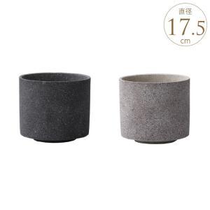 コンクリート 鉢 おしゃれ セメント フラワーポット 石器鉢 ストーン プランター ポット シリンダー M|gardenyouhin