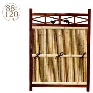 本格和風 仕切り竹垣フェンス 角型 W88cm×H120cm 目かくし |gardenyouhin