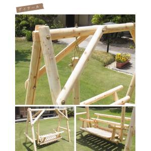 ブランコ 木製 屋外 木製ブランコ 白木 ブランコ 木製 屋外  |gardenyouhin|05