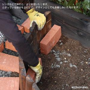 花壇柵 連杭 幅120×高さ30cm 花壇 柵 土止め 囲い 仕切り  gardenyouhin 06