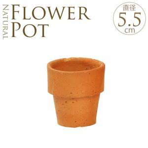 テラコッタ 植木鉢 ミニ 陶器 フラワーポット 素焼き鉢 Φ5.5cm