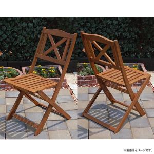 カフェ イベント テラス 業務用  木製折り畳みガーデンチェア 2脚セット|gardenyouhin|02