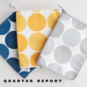 QUARTER REPORT マルチケース 母子手帳ケース チャルカ ドット W18×H23cm 北...