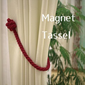 ■フランス製マグネットタッセル  マグネットでカーテンをはさんで使えるのでふさかけがない場所でも気軽...