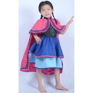 映画 ディズニー Frozen アナと雪の女王 アナ 主人公の王女 ドレス 子供服 コスプレ衣装 gargamel-store