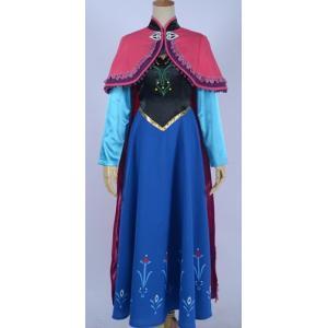 映画 ディズニー Frozen アナと雪の女王 アナ 主人公の王女 ドレス コスプレ衣装 gargamel-store