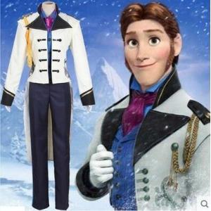 映画 ディズニーランド アナと雪の女王  Frozen  ハンス 王子 シャツ コスチューム パーティー イベント コスプレ衣装 gargamel-store