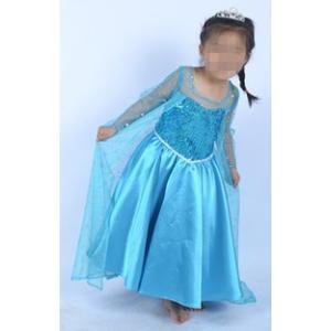 映画 ディズニー Disney Frozen キャラ アナと雪の女王風  ワンピース ドレス 女の子エルサ 子供服 コスプレ衣装 gargamel-store