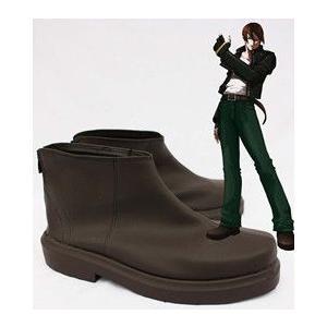 コスプレ靴   KOF クーラ=ダイアモンド 草薙京 コスプレブーツm1012|gargamel-store