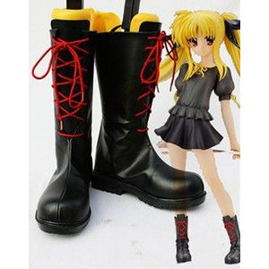 コスプレ靴  魔法少女リリカルなのは フェイト 私服 コスプレブーツm1150|gargamel-store