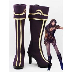 コスプレ靴  League of Legends Sivir The Battle Mistress コスプレブーツm1765|gargamel-store