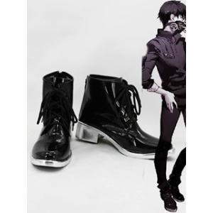 コスプレ靴  東京喰種トーキョーグール 金木研  コスプレブーツ オーダーサイズ製作可能m2136|gargamel-store